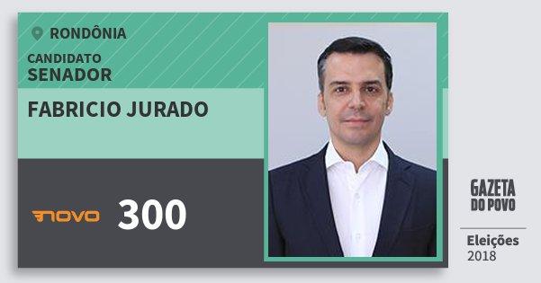 Santinho Fabricio Jurado 300 (NOVO) Senador | Rondônia | Eleições 2018