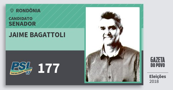 Santinho Jaime Bagattoli 177 (PSL) Senador | Rondônia | Eleições 2018
