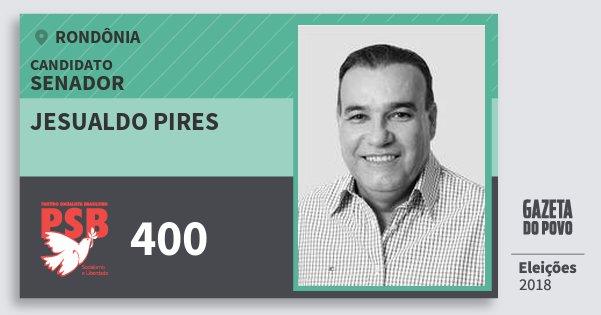 Santinho Jesualdo Pires 400 (PSB) Senador | Rondônia | Eleições 2018