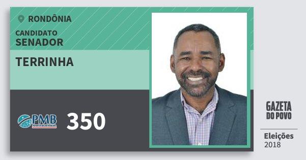 Santinho Terrinha 350 (PMB) Senador | Rondônia | Eleições 2018