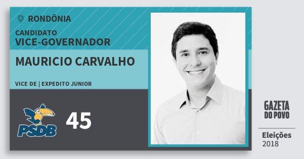 Santinho Mauricio Carvalho 45 (PSDB) Vice-governador | Rondônia | Eleições 2018