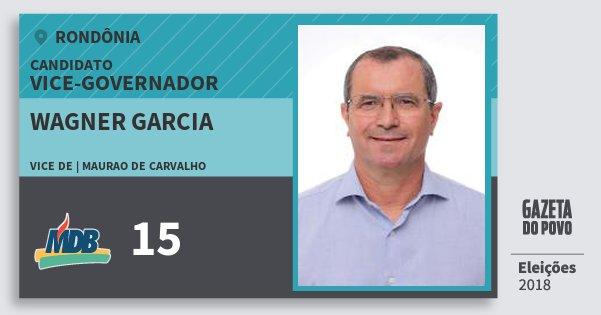 Santinho Wagner Garcia 15 (MDB) Vice-governador | Rondônia | Eleições 2018