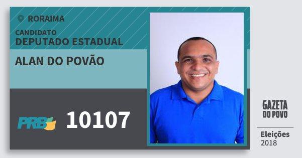 Santinho Alan do Povão 10107 (PRB) Deputado Estadual | Roraima | Eleições 2018