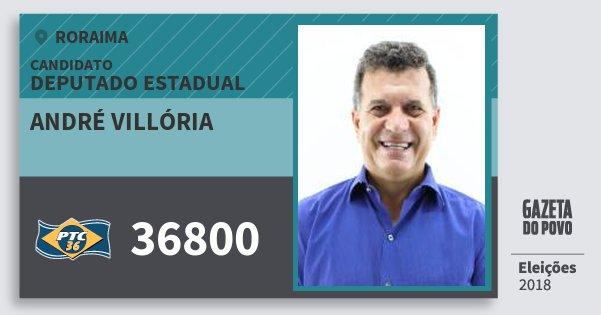 Santinho André Villória 36800 (PTC) Deputado Estadual | Roraima | Eleições 2018