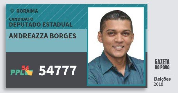 Santinho Andreazza Borges 54777 (PPL) Deputado Estadual | Roraima | Eleições 2018