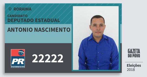 Santinho Antonio Nascimento 22222 (PR) Deputado Estadual | Roraima | Eleições 2018