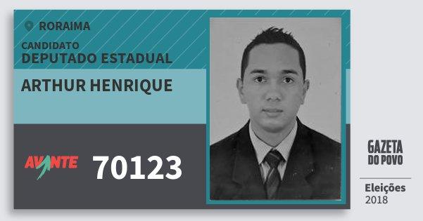 Santinho Arthur Henrique 70123 (AVANTE) Deputado Estadual | Roraima | Eleições 2018