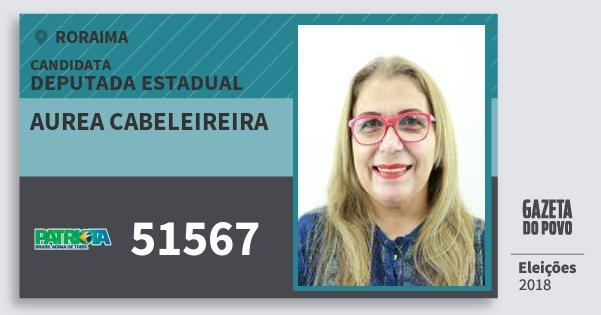 Santinho Aurea Cabeleireira 51567 (PATRI) Deputada Estadual | Roraima | Eleições 2018