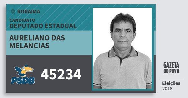 Santinho Aureliano das Melancias 45234 (PSDB) Deputado Estadual | Roraima | Eleições 2018