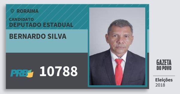 Santinho Bernardo Silva 10788 (PRB) Deputado Estadual | Roraima | Eleições 2018