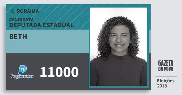 Santinho Beth 11000 (PP) Deputada Estadual | Roraima | Eleições 2018