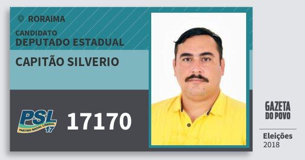 Santinho Capitão Silverio 17170 (PSL) Deputado Estadual | Roraima | Eleições 2018