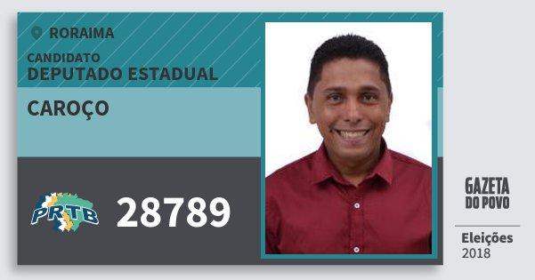 Santinho Caroço 28789 (PRTB) Deputado Estadual | Roraima | Eleições 2018