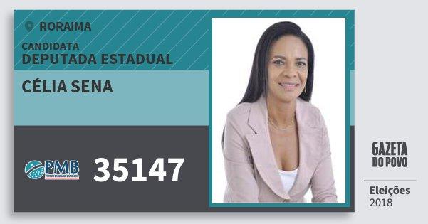 Santinho Célia Sena 35147 (PMB) Deputada Estadual | Roraima | Eleições 2018