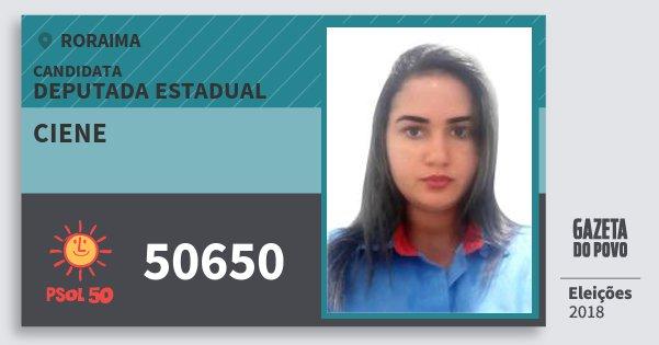 Santinho Ciene 50650 (PSOL) Deputada Estadual | Roraima | Eleições 2018