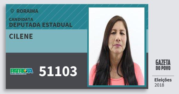 Santinho Cilene 51103 (PATRI) Deputada Estadual | Roraima | Eleições 2018
