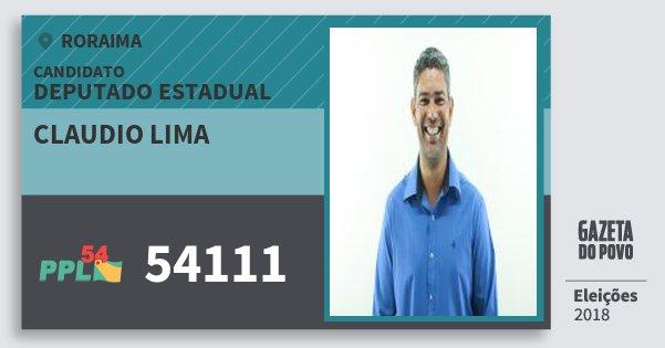 Santinho Claudio Lima 54111 (PPL) Deputado Estadual | Roraima | Eleições 2018