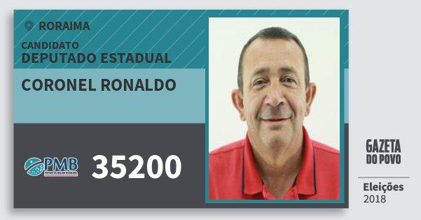 Santinho Coronel Ronaldo 35200 (PMB) Deputado Estadual | Roraima | Eleições 2018