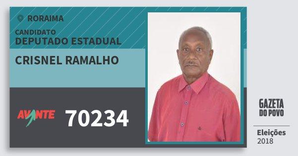 Santinho Crisnel Ramalho 70234 (AVANTE) Deputado Estadual | Roraima | Eleições 2018