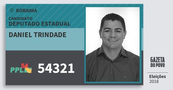 Santinho Daniel Trindade 54321 (PPL) Deputado Estadual | Roraima | Eleições 2018