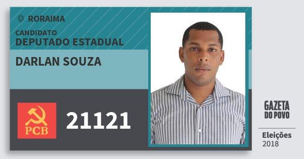 Santinho Darlan Souza 21121 (PCB) Deputado Estadual | Roraima | Eleições 2018
