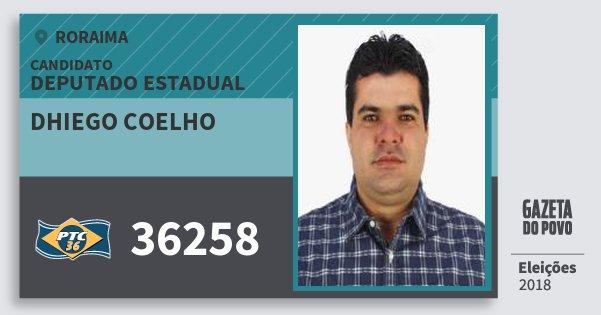 Santinho Dhiego Coelho 36258 (PTC) Deputado Estadual | Roraima | Eleições 2018