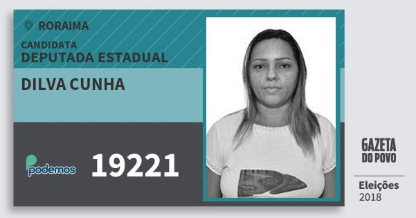 Santinho Dilva Cunha 19221 (PODE) Deputada Estadual | Roraima | Eleições 2018