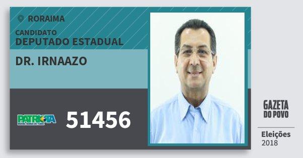 Santinho Dr. Irnaazo 51456 (PATRI) Deputado Estadual | Roraima | Eleições 2018