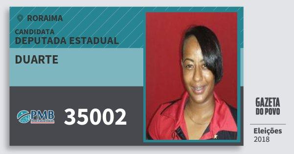 Santinho Duarte 35002 (PMB) Deputada Estadual | Roraima | Eleições 2018