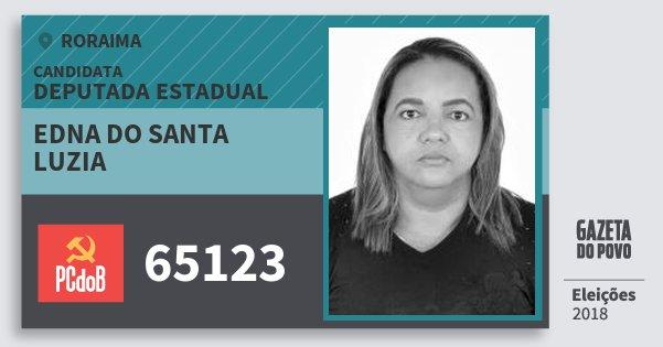 Santinho Edna do Santa Luzia 65123 (PC do B) Deputada Estadual | Roraima | Eleições 2018