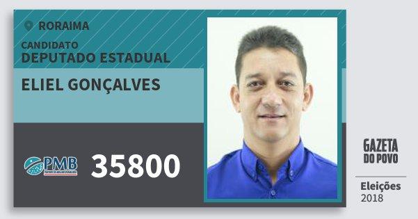 Santinho Eliel Gonçalves 35800 (PMB) Deputado Estadual | Roraima | Eleições 2018