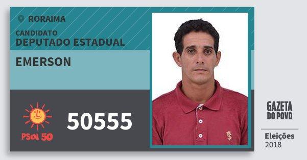 Santinho Emerson 50555 (PSOL) Deputado Estadual | Roraima | Eleições 2018
