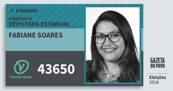 Santinho Fabiane Soares 43650 (PV) Deputada Estadual | Roraima | Eleições 2018