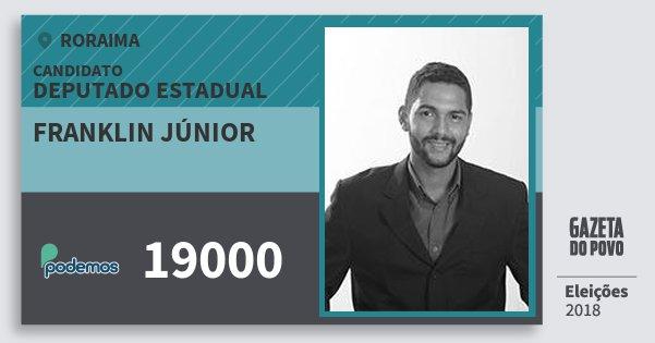 Santinho Franklin Júnior 19000 (PODE) Deputado Estadual | Roraima | Eleições 2018