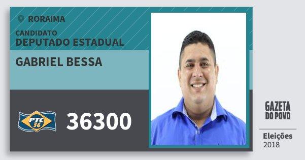 Santinho Gabriel Bessa 36300 (PTC) Deputado Estadual | Roraima | Eleições 2018
