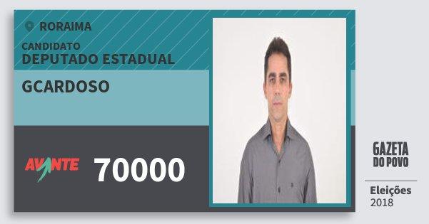 Santinho Gcardoso 70000 (AVANTE) Deputado Estadual | Roraima | Eleições 2018