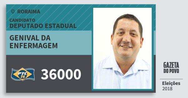 Santinho Genival da Enfermagem 36000 (PTC) Deputado Estadual | Roraima | Eleições 2018