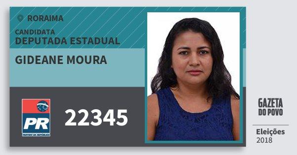 Santinho Gideane Moura 22345 (PR) Deputada Estadual | Roraima | Eleições 2018