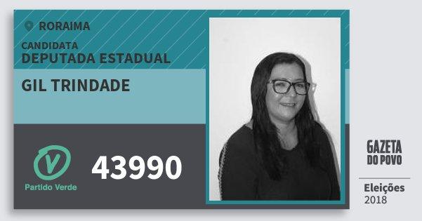 Santinho Gil Trindade 43990 (PV) Deputada Estadual | Roraima | Eleições 2018