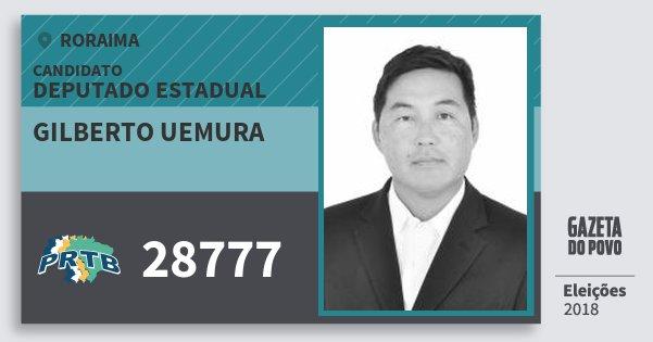 Santinho Gilberto Uemura 28777 (PRTB) Deputado Estadual | Roraima | Eleições 2018