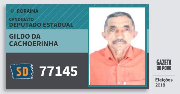 Santinho Gildo da Cachoerinha 77145 (SOLIDARIEDADE) Deputado Estadual | Roraima | Eleições 2018