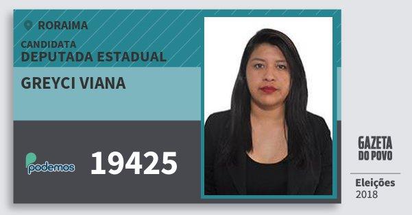 Santinho Greyci Viana 19425 (PODE) Deputada Estadual | Roraima | Eleições 2018