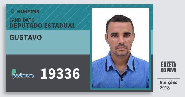 Santinho Gustavo 19336 (PODE) Deputado Estadual   Roraima   Eleições 2018