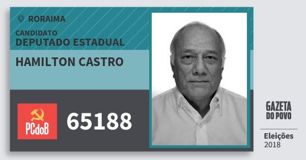 Santinho Hamilton Castro 65188 (PC do B) Deputado Estadual | Roraima | Eleições 2018