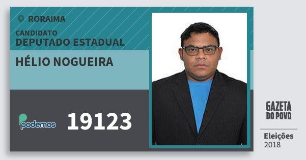 Santinho Hélio Nogueira 19123 (PODE) Deputado Estadual | Roraima | Eleições 2018