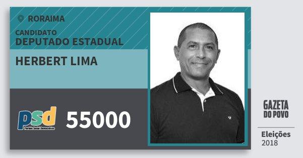 Santinho Herbert Lima 55000 (PSD) Deputado Estadual | Roraima | Eleições 2018