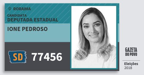 Santinho Ione Pedroso 77456 (SOLIDARIEDADE) Deputada Estadual | Roraima | Eleições 2018