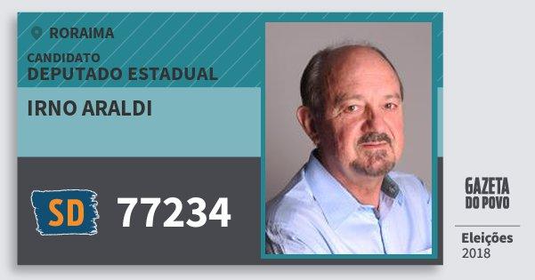 Santinho Irno Araldi 77234 (SOLIDARIEDADE) Deputado Estadual | Roraima | Eleições 2018