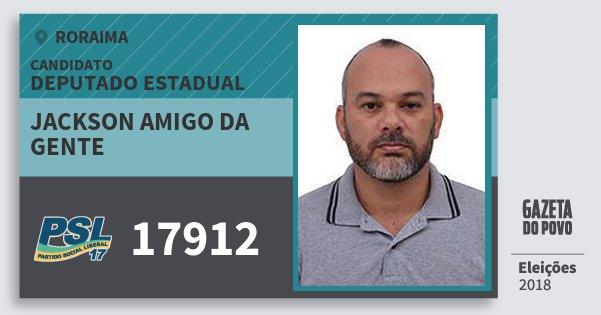 Santinho Jackson Amigo da Gente 17912 (PSL) Deputado Estadual | Roraima | Eleições 2018