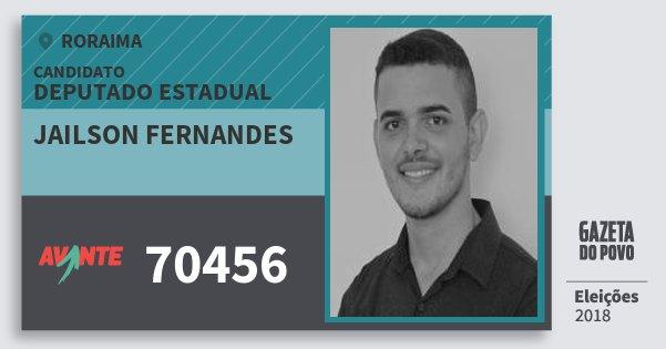 Santinho Jailson Fernandes 70456 (AVANTE) Deputado Estadual | Roraima | Eleições 2018